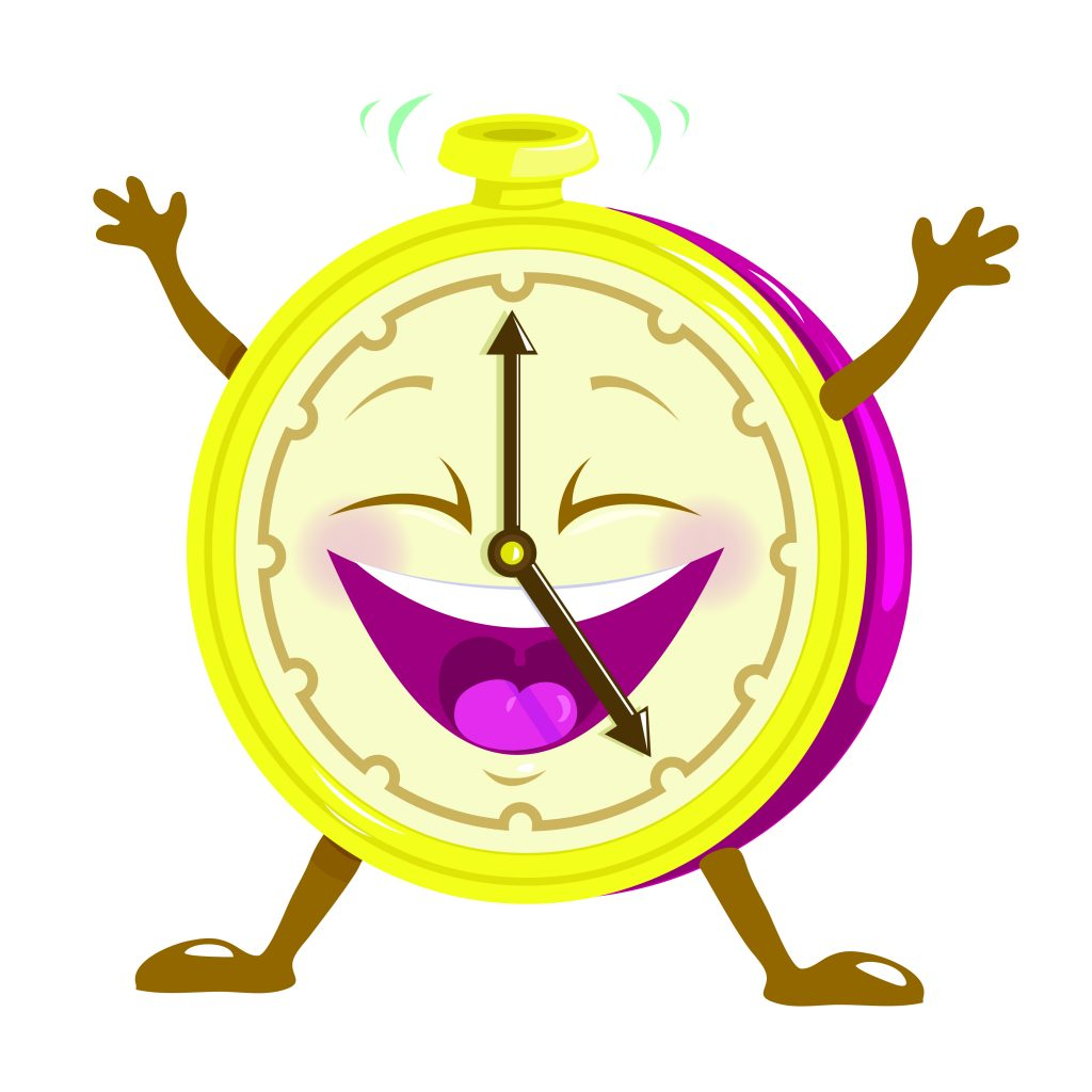 Happy Clock Character